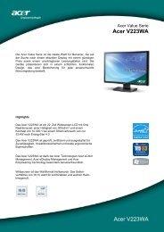 Acer V223WA Acer V223WA