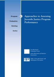 Approaches to Assessing Juvenile Justice Program Performance