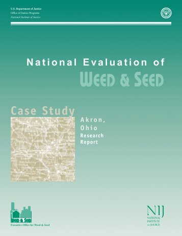 National Evaluation of Weed and Seed: Akron Case Study