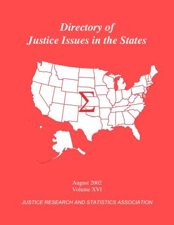 Directory of Justice Issues in the States - Justice Research and ...