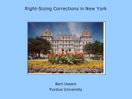 Right-Sizing Corrections in New York