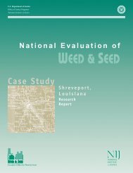 National Evaluation of Weed and Seed: Shreveport Case Study