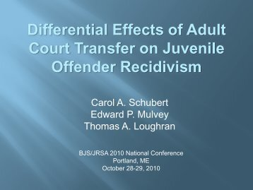 Differential Effects of Adult Court Transfer on Juvenile Offender ...