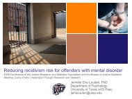 Reducing risk for offenders with mental disorder