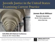 Juvenile Justice in the United States: Examining Current Practice