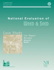 National Evaluation of Weed and Seed: Las Vegas Case Study