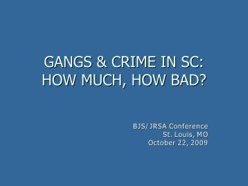 Gangs in South Carolina