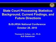 State Court Processing Statistics: Background, Current Findings ...