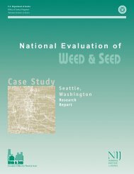 National Evaluation of Weed and Seed: Seattle Case Study
