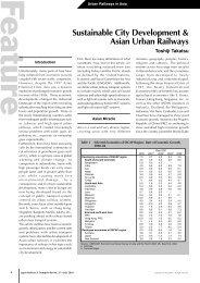 Sustainable City Development & Asian Urban Railways - JRTR.net
