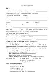 Download the member application form - Jindalee Swimming Club