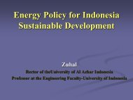 Energy Policy for Indonesia Sustainable Development