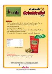 Vorteile - deuka Deutsche Tiernahrung Gmbh & Co. KG