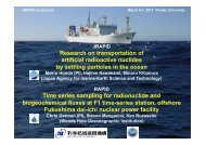 Research on transportation of artificial radioactive nuclides by ...