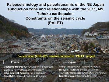 Paleoseismology and paleotsunamis of the NE Japan subduction ...