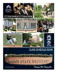 T A B L E O F C O N T E N T S - Jackson State University