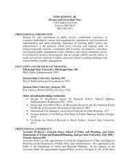 OTHA BURTON, JR. Resume and Curriculum Vitae 1728 ...