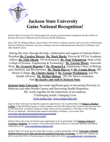 Jackson State University Gains National Recognition!