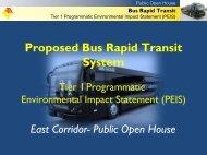 East Corridor Presentation - Jacksonville Transportation Authority
