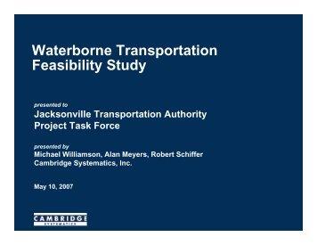 Waterborne Feasibility Study Presentation - Jacksonville ...
