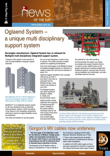 Oglaend System – a unique multi disciplinary ... - JT Day Pty Ltd