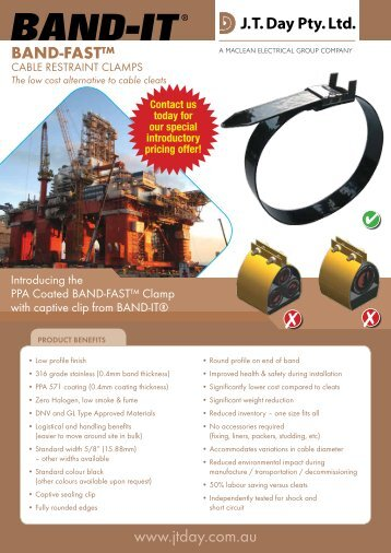 BAND-FAST™ Clamps - JT Day Pty Ltd