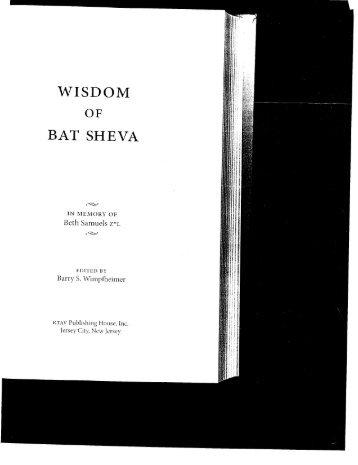 Wisdom of Bat Sheva Hebrew r09 draft 05 balanced.indd