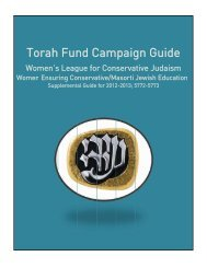 To orah Fun nd C Cam paig gn G Guid e - The Jewish Theological ...