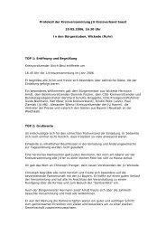 Protokoll der Kreisversammlung JU Kreisverband Soest 20.05.2006 ...