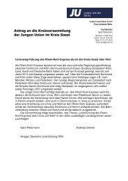 Antrag der JU Werl zur Kreisversammlung am 2.12.2006. Thema