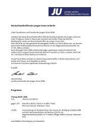 Deutschlandtreffen der Jungen Union in Berlin Programm: