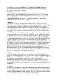 Protokoll der Kreisversammlung vom 2. Dezember 2006 in Warstein