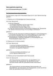 Satzungsänderungsantrag - Junge Union, Kreisverband Soest