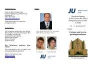 Die Einladung zur Seminartagung - Junge Union, Kreisverband Soest