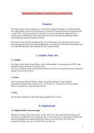 Satzung der JU Kreis Soest - Junge Union, Kreisverband Soest