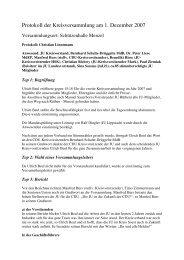 Protokoll der Kreisversammlung am 1. Dezember 2007