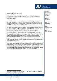 Klimaschutz ernst nehmen! - Junge Union, Kreisverband Soest