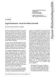 50 Jahre Bundeswehr – Einsatz für Frieden und Freiheit
