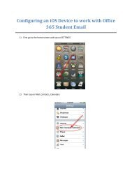 Configuring an iOS Device to work with Office 365 Student Email.pdf