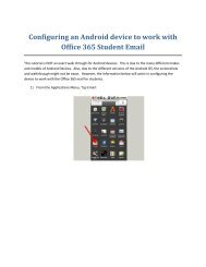 Configuring an Android device to work with Office 365 Student Email