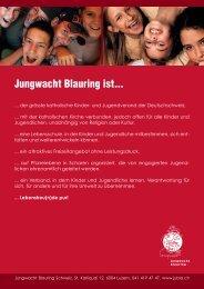 Jungwacht Blauring ist... - Jungwacht Blauring Schweiz