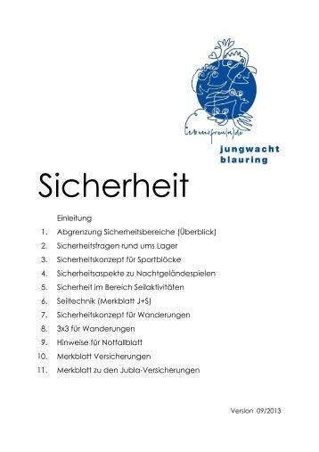 Sicherheit - Jungwacht Blauring Schweiz
