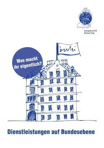 Dienstleistungen auf Bundesebene - Jungwacht Blauring Schweiz