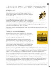 A CHRONICLE OF THE MOTION PICTURE INDUSTRY - Kodak