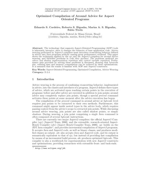 PDF (160 kB) - Journal of Universal Computer Science