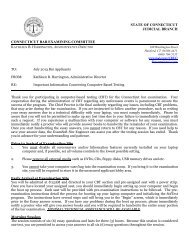 Important Memo from Administrative Director - Connecticut Judicial ...