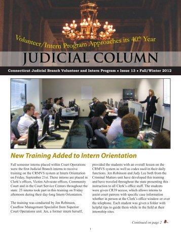 Fall/Winter 2012 - Connecticut Judicial Branch - CT.gov
