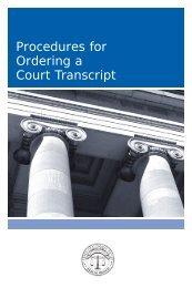 Order a court transcript? - Connecticut Judicial Branch - CT.gov