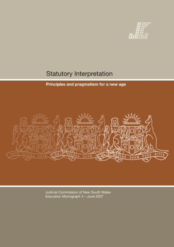 Statutory Interpretation - Judicial Commission of New South Wales