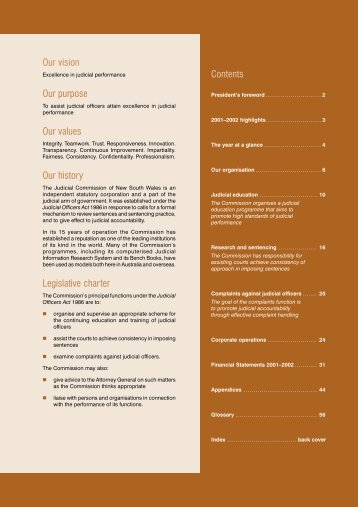Annual Report 2001-2002 - Judicial Commission of New South Wales